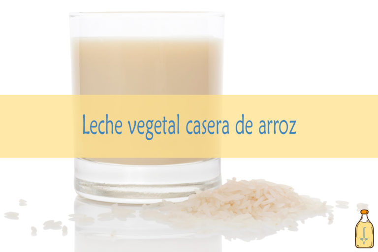 Leche vegetal de arroz