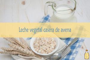 Leche vegetal de avena